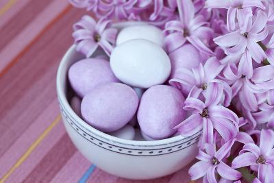 Hyacinth Blossoms and Easter Eggs-Andrea Haase-Photographic Print