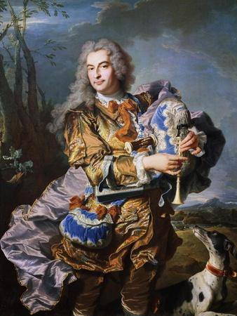 Gaspard De Gueidan Playing Bagpipes, Ca 1735