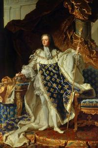 King Louis XV of France in Coronation Robe. 1730 by Hyacinthe Rigaud