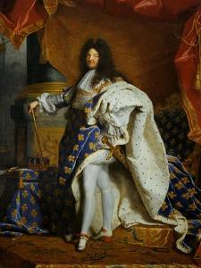 Louis XIV, King of France (1638-1715) in Royal Costume, 1701 by Hyacinthe Rigaud