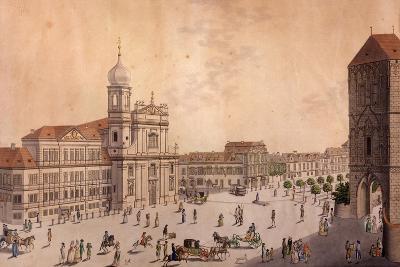Hybern Square, Prague--Giclee Print