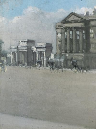 Hyde Park Corner in Fog-William Evelyn Osbourne-Giclee Print