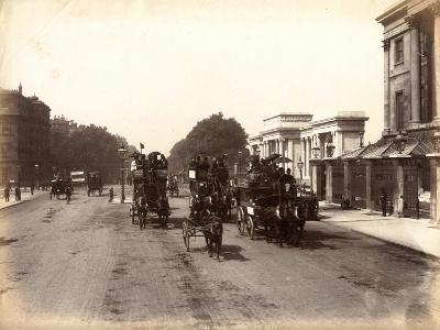 Hyde Park Corner, London, C.1885--Photographic Print