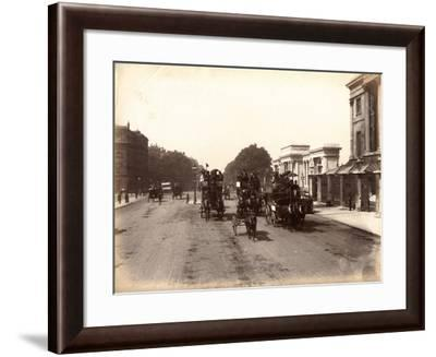 Hyde Park Corner, London, C.1885--Framed Photographic Print