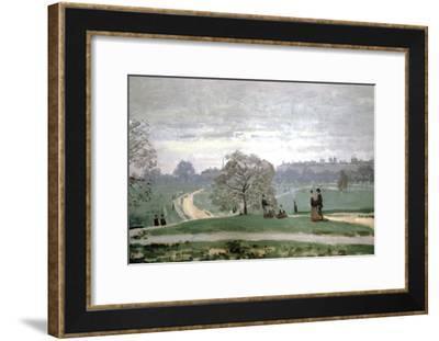 Hyde Park, London, 1871-Claude Monet-Framed Giclee Print