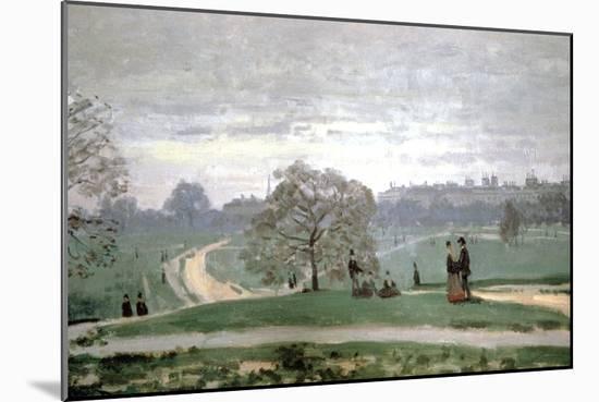 Hyde Park, London, 1871-Claude Monet-Mounted Giclee Print
