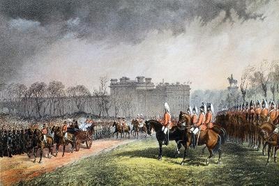 Hyde Park - the Princess Passing the Lines of the Volunteers--Giclee Print