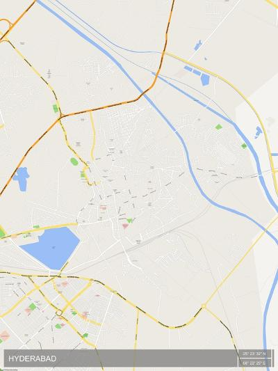 Hyderabad, Pakistan Map--Poster