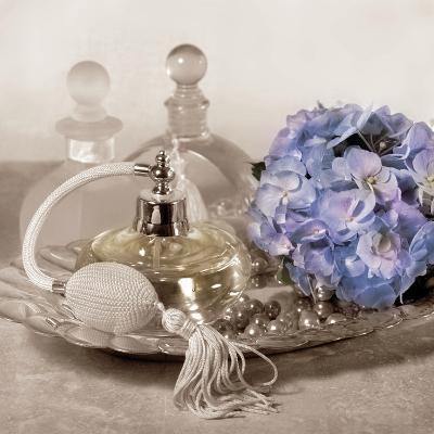 Hydrangea and Tray-Julie Greenwood-Art Print