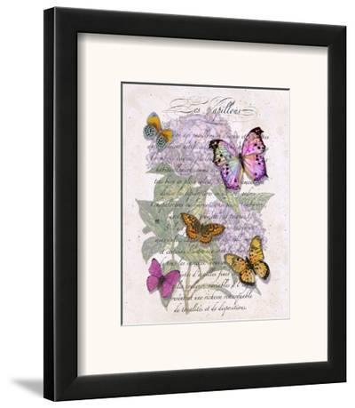 Hydrangea Butterflies II-Ginny Joyner-Framed Art Print
