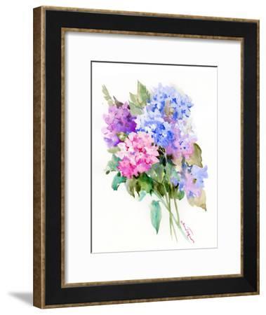 Hydrangea Flowers 6-Suren Nersisyan-Framed Art Print