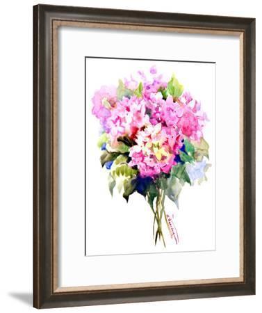 Hydrangea Flowers-Suren Nersisyan-Framed Art Print