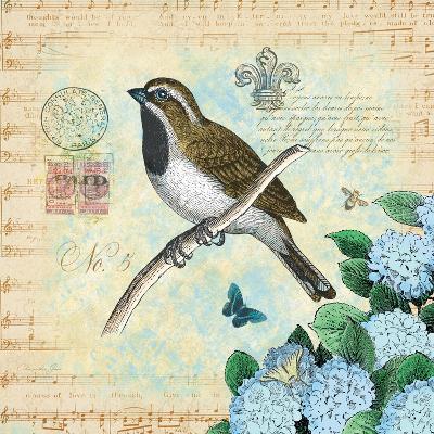 Hydrangea Songbird No. 5-Christopher James-Premium Giclee Print