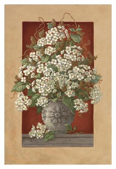 Hydrangeas En Rouge-Janet Kruskamp-Art Print