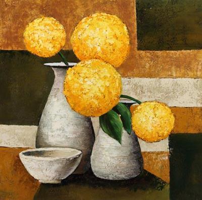 Hydrangeas with Vase II-Robert Downs-Art Print