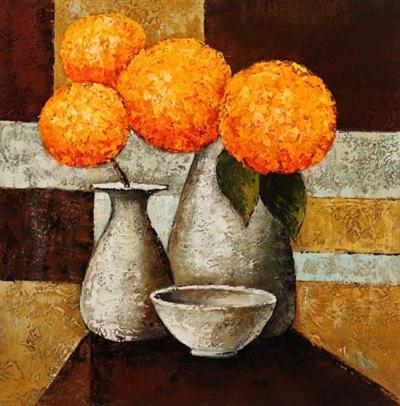 Hydrangeas with Vase III-Robert Downs-Art Print