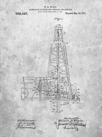 Hydraulic Drilling Rig Patent-Cole Borders-Art Print
