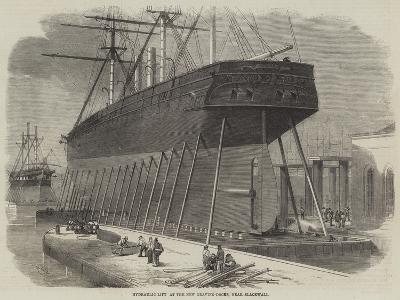 Hydraulic Lift at the New Graving-Docks, Near Blackwall-Edwin Weedon-Giclee Print