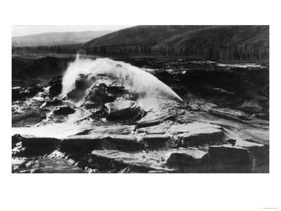 Hydraulic Mining near Fairbanks - Fox, AK-Lantern Press-Art Print