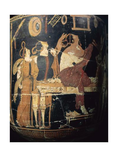 Hydria Italote, Greek Pottery, Red Figures, 340-320 BC--Giclee Print