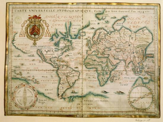Hydrographic General Map, 1634-Jean Restout II-Giclee Print