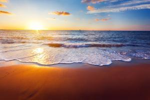 Sunset And Beach by Hydromet