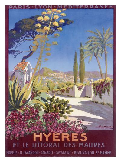 Hyeres, French Riviera-Georges Dorival-Giclee Print