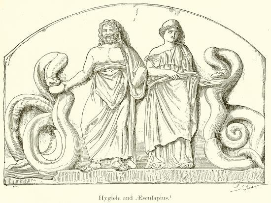 Hygieia and Aesculapius--Giclee Print