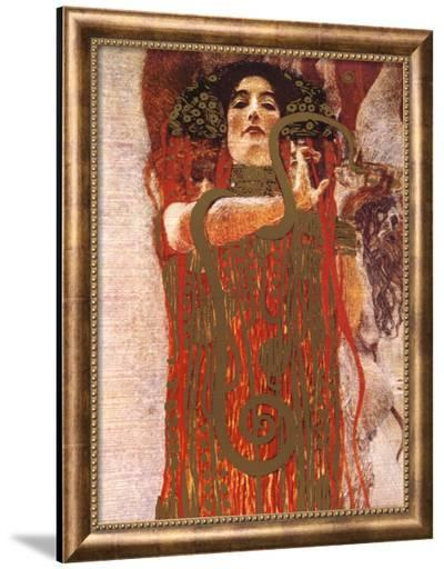 Hygieia (detail from Medicine)-Gustav Klimt-Framed Canvas Print