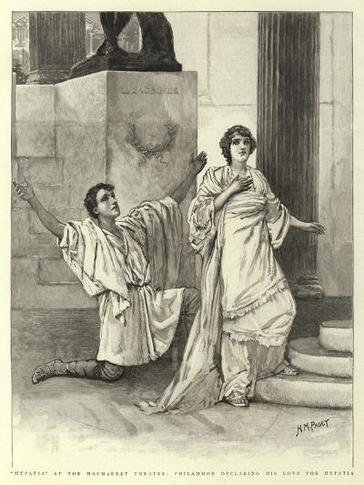 Hypatia at the Haymarket Theatre, Philammon Declaring His Love for Hypatia-Henry Marriott Paget-Giclee Print