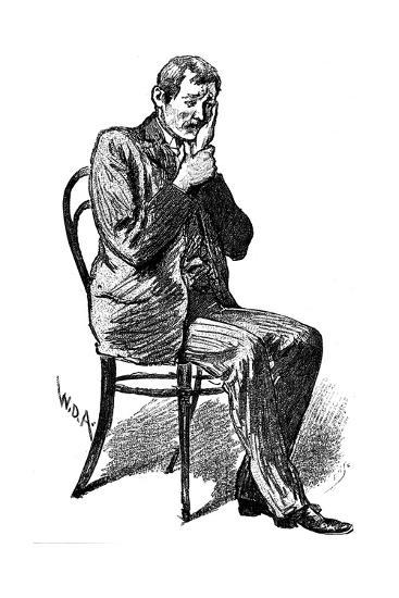 Hypnosis Subject Suffering from Imaginary Toothache, 1891--Giclee Print
