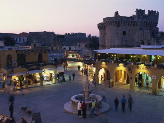 Hypocratus Square, Rhodes Town, Rhodes, Dodecanese, Greek Islands, Greece, Europe-Simanor Eitan-Photographic Print