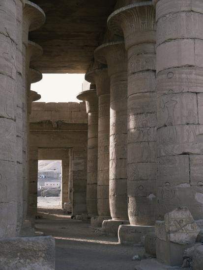 Hypostyle hall, the Ramesseum, Luxor (Thebes), Egypt-Werner Forman-Photographic Print