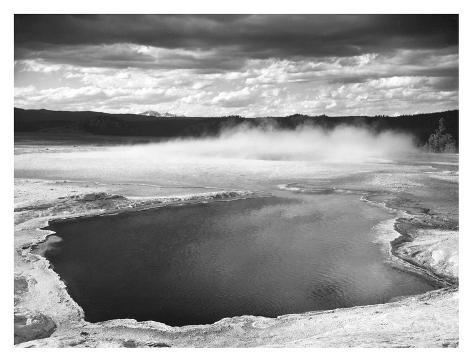 Art Print: Fountain Geyser Pool, Yellowstone National Park, Wyoming, ca. 1941-1942 by Ansel Adams : 14x18in