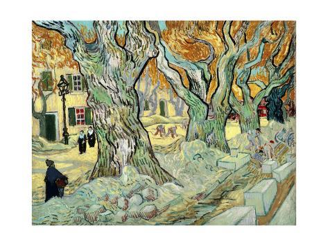 Giclee Print: The Road Menders by Vincent van Gogh : 24x18in