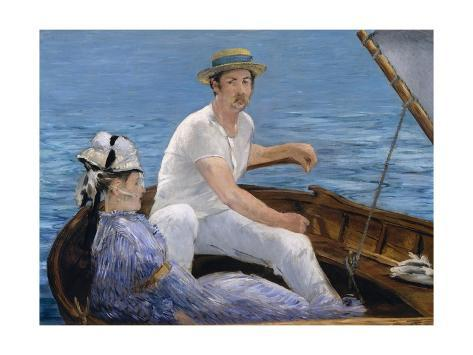 Art Print: Boating by �douard Manet : 24x18in