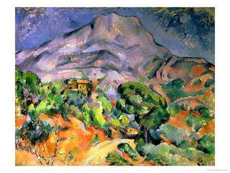 Mont Saint Victoire Art Print by Paul Cézanne : 16x12in