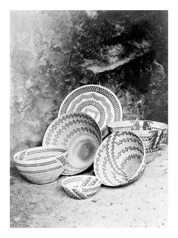 Giclee Print: Yokuts Baskets Wall Art by Edward S. Curtis by Edward S. Curtis : 24x18in