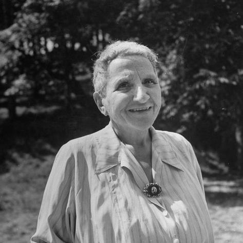 Premium Photographic Print: Author Gertrude Stein Outdoors Alone by Carl Mydans : 16x16in