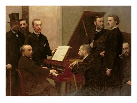 Giclee Print: Around the Piano Art Print by Henri Fantin-Latour by Henri Fantin-Latour : 24x18in