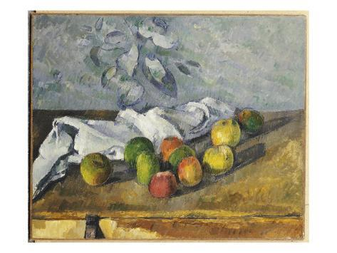 Giclee Print: Apples and a Napkin Wall Art by Paul Cézanne : 24x18in
