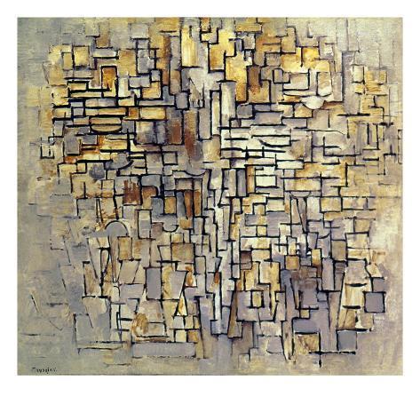 Giclee Print: Piet Mondrian Wall Art by Piet Mondrian : 16x16in
