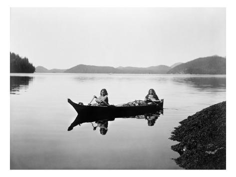 Giclee Print: Clayoquot Canoe Art Print by Edward S. Curtis by Edward S. Curtis : 24x18in