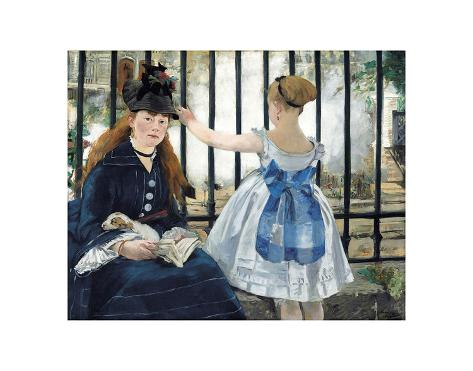 Giclee Print: The Railway Wall Art by �douard Manet by Edouard Manet : 12x14in