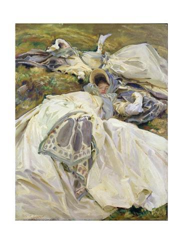 Two White Dresses, John Singer Sargent