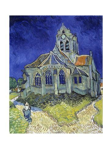 Giclee Print: The Church of Auvers-Sur-Oise by Vincent Van Gogh : 24x18in