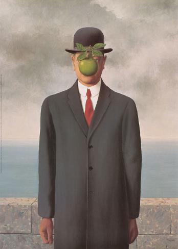 Art Print: The Son of Man by Rene Magritte : 28x20in