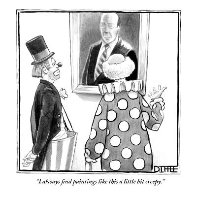 """""""I always find paintings like this a little bit creepy."""" - New Yorker Cartoon-Matthew Diffee-Premium Giclee Print"""