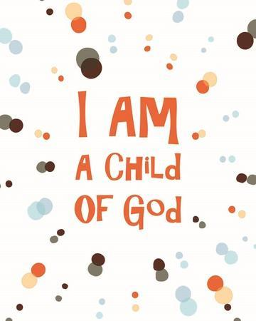 graphic regarding I Am a Child of God Printable named I Am A Little one Of God Radial Dots Orange Artwork Print as a result of Stimulate Me