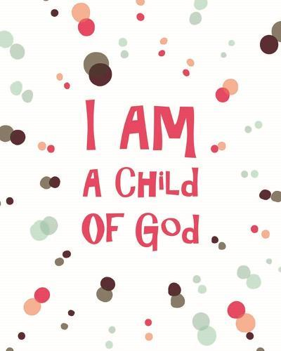 I Am A Child Of God Radial Dots Pink-Inspire Me-Art Print